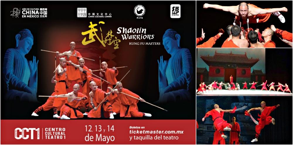 Por primera ocasión llegó a México 'Shaolin Warriors', el espectáculo de talla mundial que da una muestra de lo que es el sendero al conocimiento, a través del aprendizaje y dominio de las técnicas del arte marcial del kung fu en el legendario y místico templo de China.
