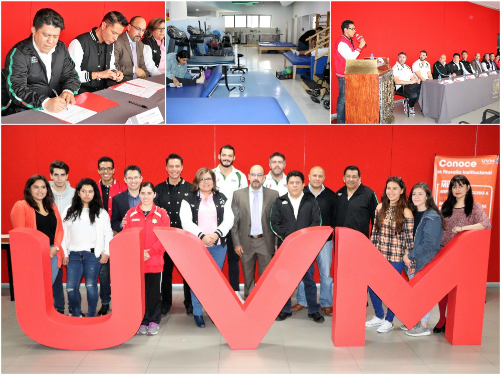 Atletas de la Federación Mexicana de Jiujitsu, rugby y gimnasia recibirán apoyo en diferentes campos de la salud por especialistas y estudiantes de la Universidad del Valle de México (UVM), gracias a un acuerdo de colaboración a nivel nacional que abarcaría el campo académico y deportivo.