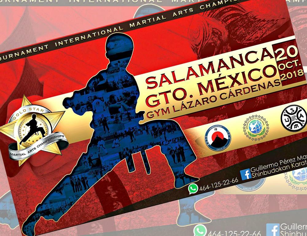 Continúan los preparativos para el V Campeonato de Artes Marciales 'Gold Star' 2018, en Salamanca, Guanajuato, el cual ya cuenta con el apoyo de miembros del sector turístico, trabajadores organizados, empresarial y de servicios, así como autoridades deportivas de la localidad.