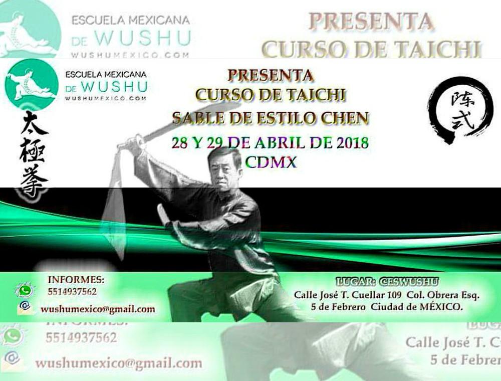 En su misión por difundir las artes marciales chinas, la Escuela Mexicana de Wushu (EMW) se prepara para llevar a cabo un Curso de Taichí y Sable Estilo Chen, el cual será abierto a todos los practicantes, competidores y público interesado en conocer uno de los sistemas tradicionales y reconocidos en el mundo.