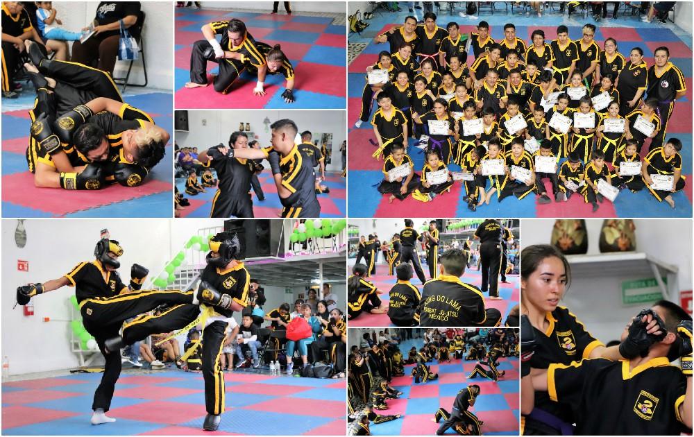 Nerviosismo, determinación y otras emociones vivieron alumnos de la organización Kung Do Lama de la Ciudad de México, con motivo del primer examen del año.