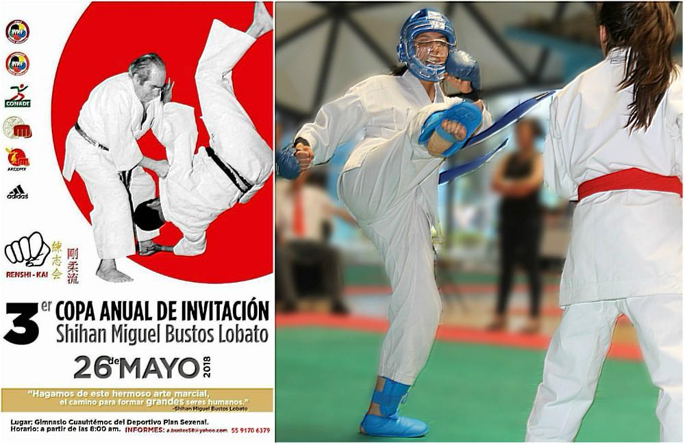 Homenaje a pilar del karate do y artes marciales japonesas en 3ª Copa Anual de Invitación Shihan Miguel Bustos L.
