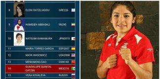 Guadalupe Quintal Catzín, subió 34 lugares para posicionarse en el sitio 14 de las mejores del ranking en su categoría en la WKF.