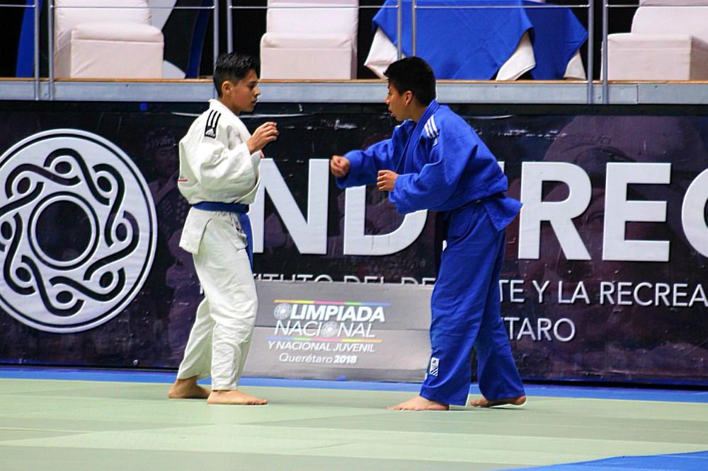Las artes marciales iniciaron su presentación en la Olimpiada Nacional y Nacional Juvenil 2018 (ONyNJ-2018), en donde la disciplina del judo llegó a Querétaro.