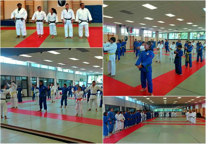 Entrenamiento de judo con Selección Nacional para elevar el nivel técnico y motivar a los grados principiantes e intermedios a que practiquen como lo hace un atleta olímpico.