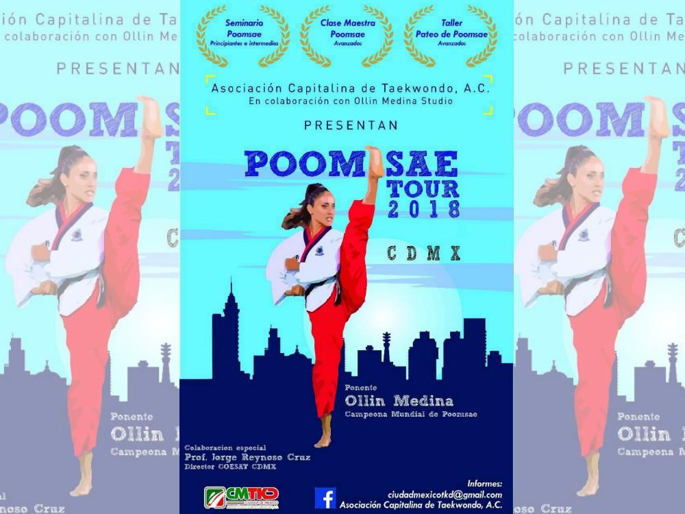 Taller de Poomsae con Ollin Medina en la CDMX será el inicio de una serie de trabajos para fortalecer y promover el equipo de formas de la Asociación Capitalina de Taekwondo.
