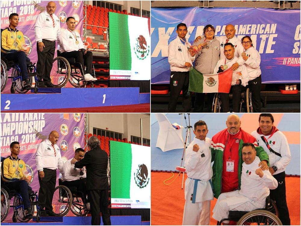 El corazón del Para-Karate de México nuevamente puso en alto el Camino dela Mano Vacía que se desarrolla en territorio azteca, gracias a la medalla de oro en modalidad de sillas de ruedas y una de bronce en débiles intelectuales del XXXII Campeonato Panamericano de Karate Santiago 2018.