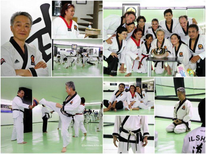 Un entrenamiento y festejo muy especial realizaron alumnos de la escuela Il Shim Taekwondo de la Ciudad de México (CDMX), para conmemorar de manera sorpresiva el cumpleaños de su maestro Bomsanim Sang Kwon Park, forjador de campeones olímpicos y para la vida.