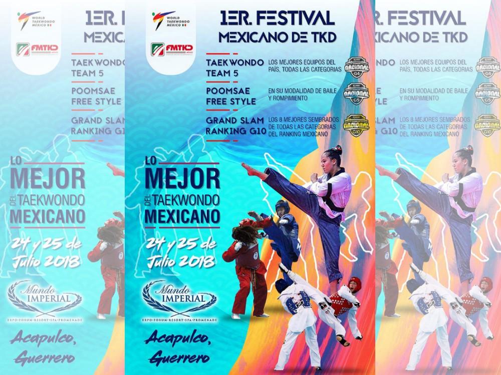 Integrantes de la Selección de Taekwondo de la Ciudad de México se encuentran listos y decididos para el 1er Festival Mexicano de Taekwondo, al que acude lo mejor del arte marcial del país para competir en el Gran Slam G10.