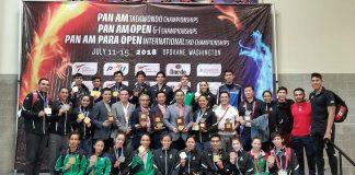 Gran cosecha de medallas de 21 medallas logró ganar la Selección Mexicana de Taekwondo en el Campeonato Panamericano en Washington, EEUU
