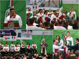 La Delegación Mexicana que acudirá a los XXIII Juegos Centroamericanos y de Caribe Barranquilla 2018 recibieron la bandera tricolor con la que representarán al país en esta justa continental donde las artes marciales de karate, judo y taekwondo serán parte de las disciplinas deportivas.