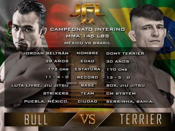 Peleas estelares por campeonatos Super Fight, 59kg, Interino 145 lbs Méx.ico vs Brasil y MMA 170 lbs (México vs Brasil.