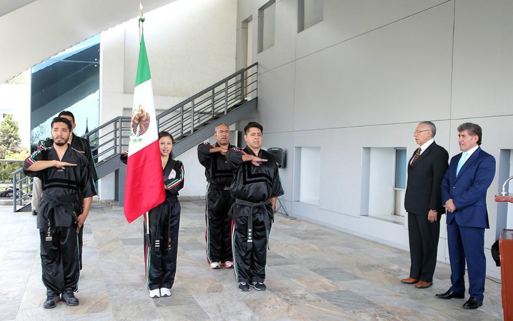 Fue abanderada la Selección Mexicana de Lima Lama que participará en los Juegos Europeos de Artes Marciales 2018.