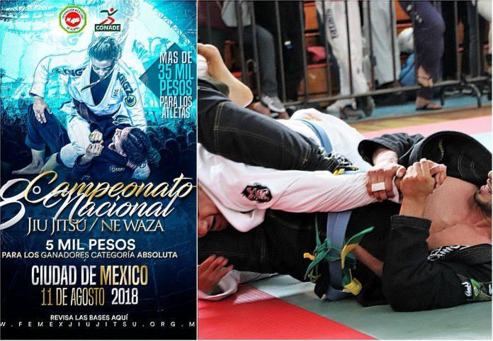 Se acerca la fecha para que decenas de practicantes de jiujitsu se den cita en el 8º Campeonato Nacional Jiu Jitsu Ne Waza CDMX 2018.