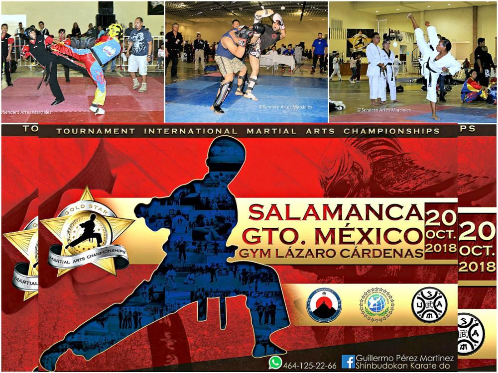 Conforme se acerca la fecha para el próximo V Campeonato de Artes Marciales 'Gold Star' Salamanca 2018, en Guanajuato, más competidores de diferentes estados del país y patrocinadores del sector empresarial de la región se han sumado a este gran evento.