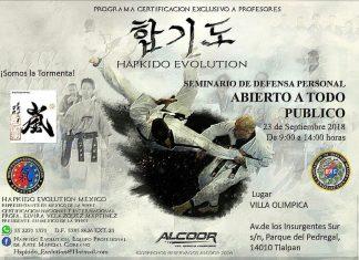 La organización Hapkido Evolution México llevará a cabo un par de Seminarios de Defensa Personal para Todos en la CDMX y en Morelia, Mich.