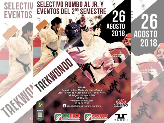 Practicantes de taekwondo de la Ciudad de México (CDMX) tendrán oportunidad de pasar formar parte de la selección capitalina del arte marcial, gracias al Torneo Selectivo Estatal CDMX.