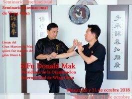 La herencia del legendario Ip Man, quien fuera maestro de Bruce Lee, llegará a la Ciudad de México (CDMX) a través del Seminario Internacional de Wing Chun, el cual será impartido por Sifu Donald Mak.