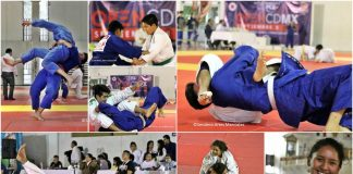 """El Centro Deportivo """"Benito Juárez"""" retumbó con las porras y proyecciones de judo sobre el tatami del 1er Open CDMX 2018, el cual fue marco para dar a conocer de manera oficial el inicio de trabajos de la nueva Asociación de Judo CDMX."""
