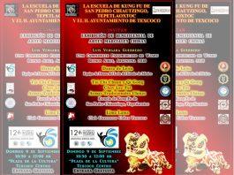Practicantes de artes marciales de Tepetlaoxtoc y Texcoco, en el Estado de México, realizarán una exhibición a beneficio para reunir recursos económicos para que uno de sus compañeros logre acudir al 12º Campeonato Panamericano de Wushu, en Buenos Aires, Argentina.