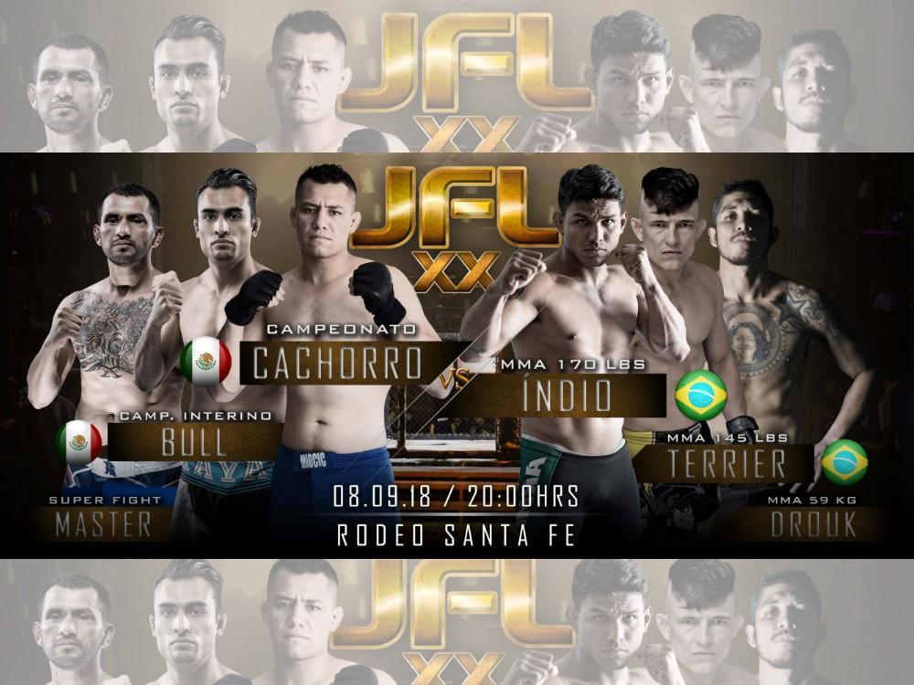 Los peleadores se encuentran listos para entrar a la jaula el sábado 8 de septiembre a buscar el triunfo del Campeonato de Artes Marciales Mixtas JFL MMA, para lo cual se regalarán 5 pases dobles para esta gran presentación.