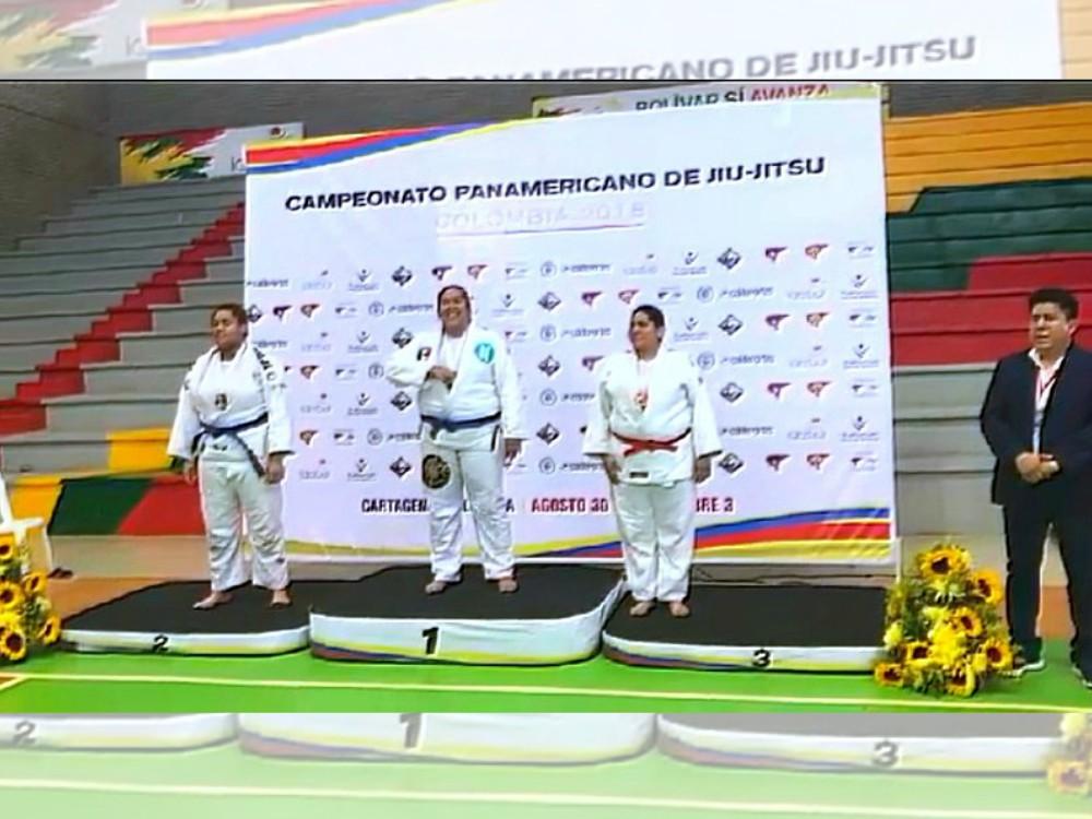 Y lo volvió a lograr. Marianne 'La Osa' Gaviño volvió a colgarse la medalla de oro, al coronarse campeona en su categoría en el Panamerican Jiujitsu Championship 2018