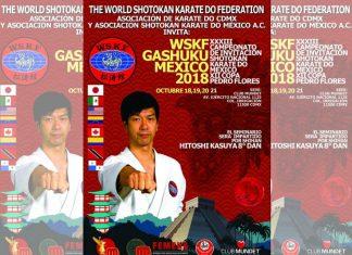 La organización WSKF llevará a cabo su evento más importante del año en la Ciudad de México (CDMX), gracias al Seminario Internacional WSKF Gashuku México 2018, que será impartido por Shihan Hitoshi Kasuya, así como el XXXIII Campeonato de Invitación Shotokan Karate Do México y XII Copa Shihan Pedro Flores.