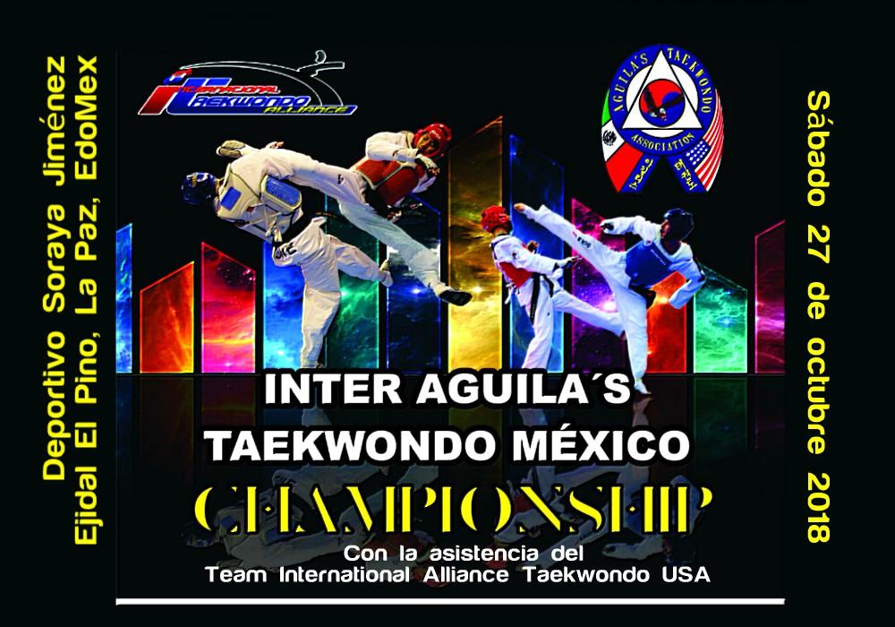 A unos días de que se lleve a cabo el Torneo Inter Aguila's Taekwondo México 2018, en el cual acudirá el Team International Alliance Taekwondo USA, se conoció que este evento será decisivo para elegir la Selección ITA-México.