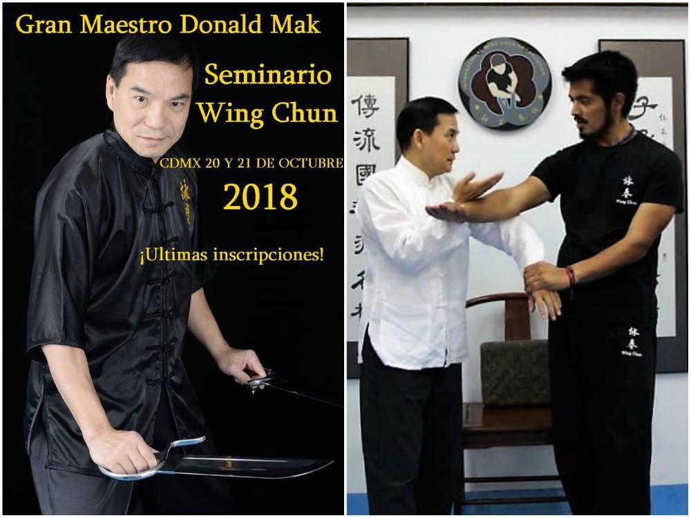 Gran interés, tanto nacional como internacional, ha generado el próximo Seminario Internacional de Wing Chun, con Sifu Donald Mak, presidente de la International Wing Chung Organization (IWCO).