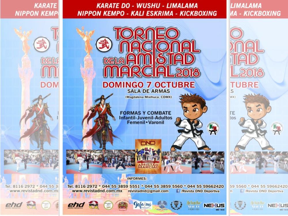 Competidores de diferentes disciplinas marciales se darán cita en el Torneo Nacional de la Amistad Marcial 2018.