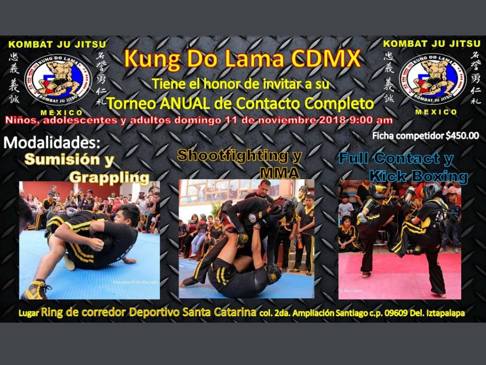 Fue anunciado el próximo Torneo Anual de Contacto Completo Kung Do Lama CDMX, el cual se realizará en un espacio muy especial al oriente de la Ciudad de México.