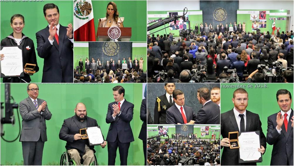 A unos días de que concluya la presente administración federal, este día el presidente de la República, Enrique Peña Nieto hizo entrega del Premio Nacional del Deporte y Mérito Deportivo (PND).