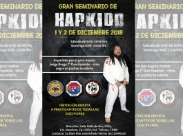 Uno de los grandes exponentes mexicanos del hapkido, el profesor Jorge Braga, ofrecerá un Gran Seminario de este arte marcial coreano para la defensa personal, el próximo fin de semana al sur de la CDMX.