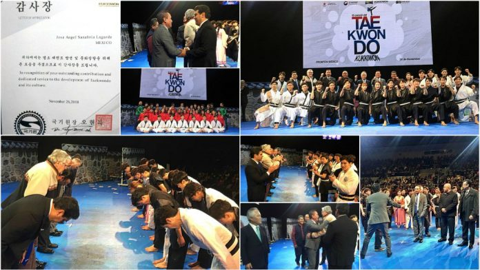 La organización Kukkiwon, la máxima autoridad de taekwondo en el mundo, reconoció la labor que practicantes, federación y asociaciones han realizado en México para promover y difundir el arte marcial coreano en todo el territorio nacional.
