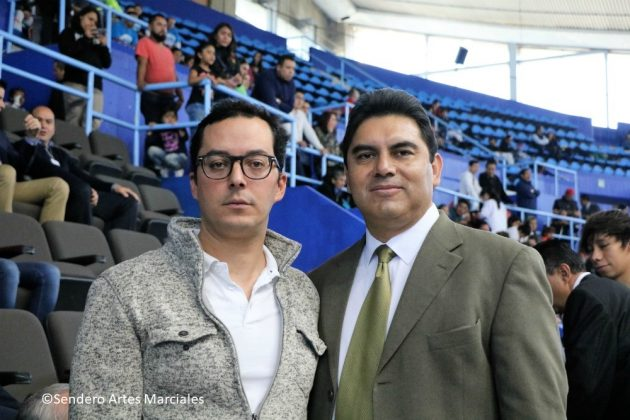 Rodrigo Dosal Ullosa, Dir. Gral. INDEPORTE-CDMX (izq) y José Ángel Sanabria, Pdte. ACTKD