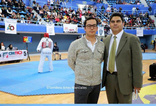 Rodrigo Dosal Ullosa, Dir. Gral. INDEPORTE-CDMX (izq) y José Ángel Sanabria, Pdte. ACTKD (der.)
