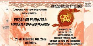 Un festejo muy especial del Año Nuevo Chino del Cerdo realizará la Liga Dahoimoon de la Gran Puerta Abierta, de artes marciales chinas, ya que además de esta celebración, realizará un homenaje In Memoriam de Sifu Gaspar García López.