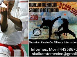 La organización Shotokan Karate-Do Alliance International México (SKAI), iniciará sus actividades del 2019 con energía, para lo cual realizará la 2ª Copa SKAI México, la cual se realizará en la Ciudad de Morelia, Michoacán.