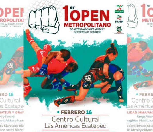 """Las artes marciales mixtas (MMA, por sus gilas en inglés), llegarán al Centro Cultural y Deportivo """"Las Américas"""", en Ecatepec, Estado de México, el cual será sede del 1er Open Amateur"""