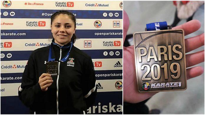 La atleta Sahicko Ramos Akita puso en alto el nombre de México al ganar medalla de bronce en kumite (combate) del Karate1 Premier League - Paris 2019.
