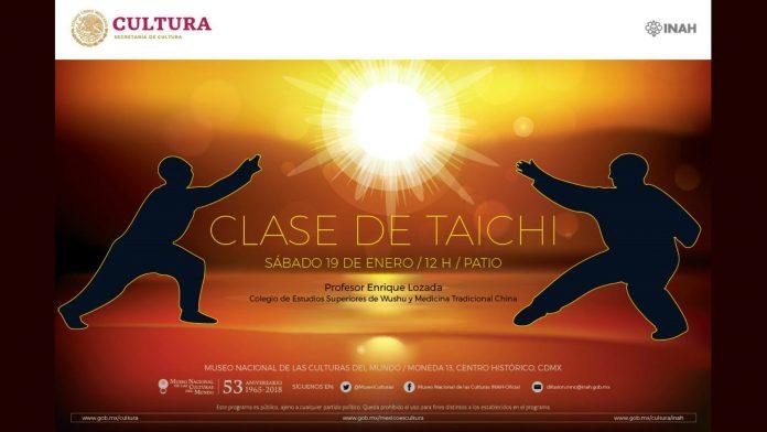 Se enriquece la gama de técnicas de taichí que estarán presentes en la Clase Abierta y Gratuita en el Museo Nacional de las Culturas del Mundo, en el Centro Histórico de la Ciudad de México (CDMX), donde los asistentes podrán conocer esta expresión milenaria de las artes marciales chinas de los estilos Yang, Wudang y Chen.