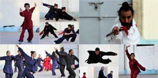 """El Foro Lindbergh del Parque México, en la Ciudad de México (CDMX), vibró con la energía del """"chi"""" de las artes marciales del kung fu, taichí y qigong para festejar el Año Nuevo Chino, gracias a la exhibición de la escuela Wudang Long Men Kung Fu México-El Camino de Wudang."""