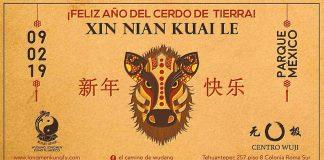 Las artes marciales chinas llegarán al Parque México de la Ciudad de México para festejar el inicio del Año Nuevo Chino del Cerdo de Tierra, donde la escuela Wudang Longmen Kung Fu México, realizará una práctica y exhibición, entre otras actividades.