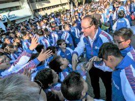 Con un gran apoyo de atletas y entrenadores de destacada trayectoria, entre los que se encuentran exponentes de artes marciales, la Alcaldía Benito Juárez, abanderó a sus equipos representativos que participan en los Juegos Deportivos Infantiles, Juveniles y Paralímpicos de la CDMX 2019.