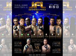 Todo un espectáculo de artes marciales mixtas (MMA, por sus siglas en inglés), se prepara para el próximo evento de la JFL Grand Prix 2019, en el cual se enfrentarán atletas nacionales y de Sudamérica.
