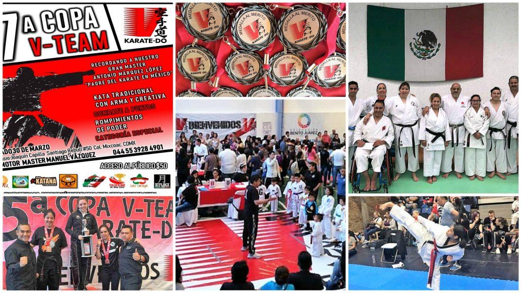 Todo se encuentra listo la 7ª Copa V-Team, donde integrantes de la Selección Mexicana de Para-karate asistirán como invitados especiales para realizar una demostración, luego de su gran logro histórico al quedar en el primer lugar del XXVII Pan American Championships Panamá 2019.