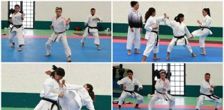 La selección nacional de karate en combate y kata, intensifica su preparación en Villas Tlalpan de la Comisión Nacional de Cultura Física y Deporte (CONADE).