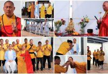 En un ambiente de misticismo y emoción, el monje guerrero Shifu Shi Yan Xu, representante de la 34ª generación del Templo Shaolin de Henan, China, realizó por primera vez ocasión una ceremonia especial para tomar como discípulos al primer grupo de mexicanos certificados como instructores.