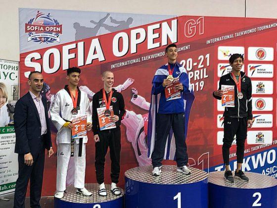 Integrantes de Selección Mexicana de Taekwondo en el Sofía Open 2019. Fotos FMTKD.