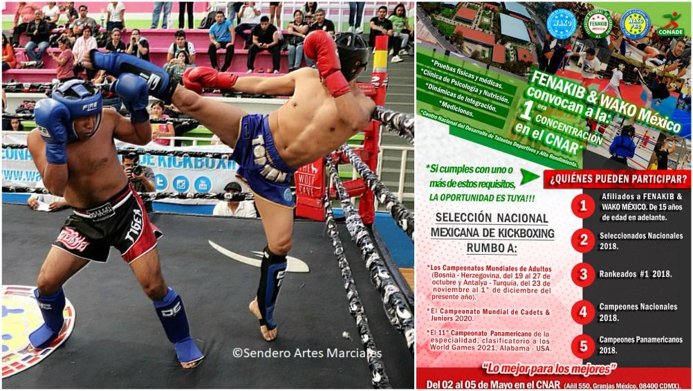 En su preparación de la Selección Mexicana de Kickboxing para eventos de talla internacional, la FENAKIB, anunció su 1ª Concentración en el CNAR, para sus atletas.